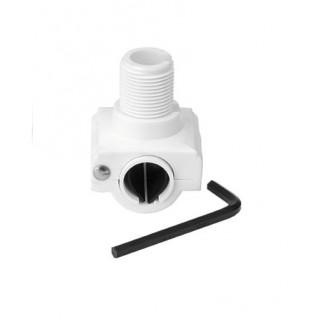 Support d'antenne Nylon blanc 4722 pour fixation sur tube horizontale 22/25m