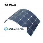 Panneau solaire flexible 50W 12V à cellules back contact haut rendement