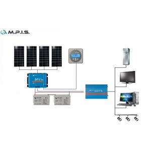 Kit solaire 24V/2000W MPPT Pro complet Victron energy