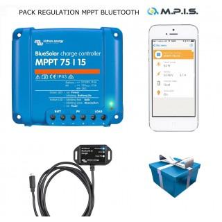 PACK Régulateur MPPT 75/15A + Bluetooth + appli smartphone