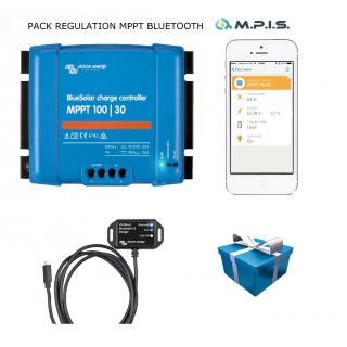 PACK Régulateur MPPT 100/30A + Bluetooth + appli smartphone