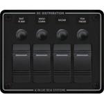 """Tableau électrique étanche à 4 interrupteurs """"Contura"""" Blue Sea Systems"""