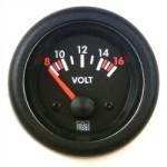 Voltmetre analogique 12V diam. 52mm