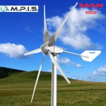 Éolienne EOL MP-6, 750W-24V, 5 pales en F.d.v, boitier aluminium, garantie 3 ans