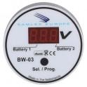 Voltmètre contrôleur de batteries 12/24V automatique