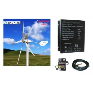 Pack Eolienne 24V-750W + Régulation