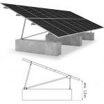 Structure panneaux solaires plein champ P-Rack