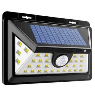 Projecteur solaire 34 LEDs IP65 avec détecteur de mouvement