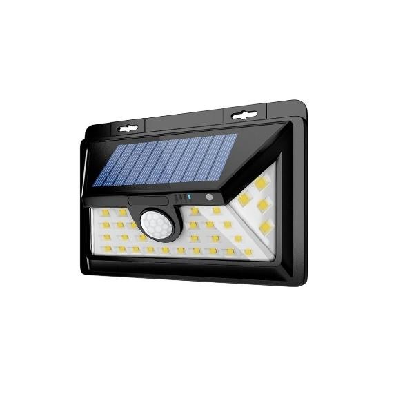 projecteur solaire 34 leds ip65 avec d tecteur de mouvement. Black Bedroom Furniture Sets. Home Design Ideas