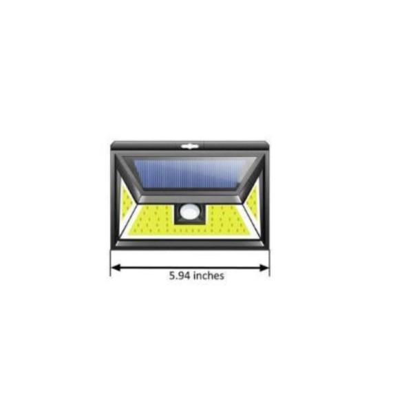 projecteur solaire 44 cob leds ip65 avec d tecteur de mouvement. Black Bedroom Furniture Sets. Home Design Ideas