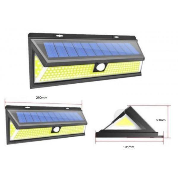 projecteur solaire 180 leds ip65 avec d tecteur de mouvement. Black Bedroom Furniture Sets. Home Design Ideas