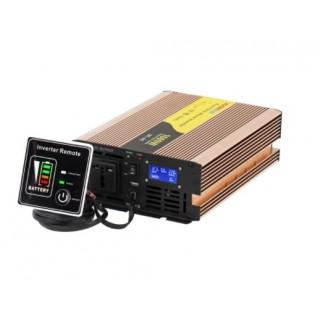 Convertisseur 12V-1000W pure sinus + télécommande