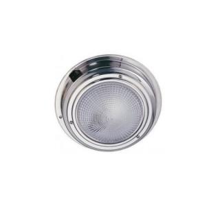 Plafonniers de cambuse à plaquer, LED basse consommation 12V / 1.32W 20 LEDs finition Inox