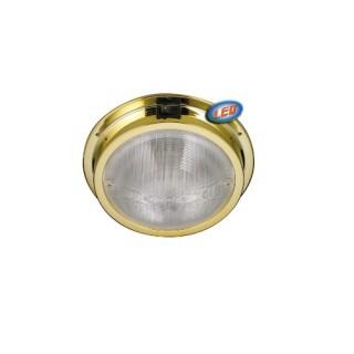 Plafonniers de cambuse à plaquer, LED basse consommation 12V / 1.32W 20 LEDs finition Laiton