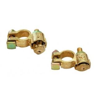 2 Colliers batterie borne + et - , cable 40-60mm²