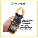 Pince ampèremétrique + multimètre digital 400A 600V AC-DC cat III