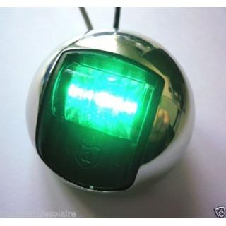 Feu de navigation LED vert, 12V 1W, etanche, 1NM