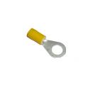 Cosses isolée jaunes à sertir. 4/6mm² M8