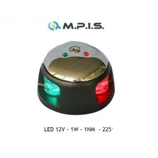 Feu de navigation LED bicolore vert & rouge, 12V 1W, etanche, visibilité 1NM
