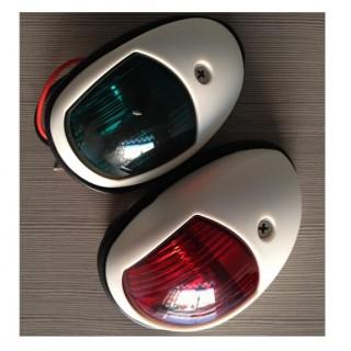 Feu de navigation LED ABS Blanc, 12V 1W, 1NM