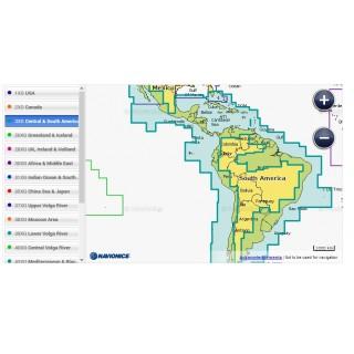 Nouvelle Carte marine Navionics+ AMERIQUES