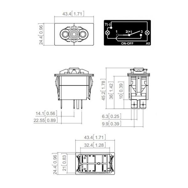 interrupteur  u00e0 bascule on  off type carling 12  24v 10  20a