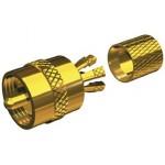 Raccord or sans soudure PL259 Shakespeare pour câble RG58 RG8X